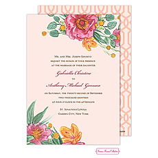 : Simply Floral Invitation