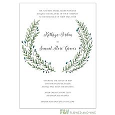 Buds and Greenery Invitation -