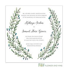 greenery wedding invitation: Buds and Greenery Invitation
