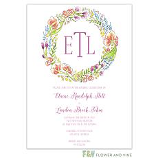 : Splendid Wreath Invitation