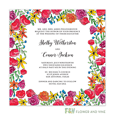 : Floral Fiesta Invitation