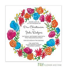 : Viva Florals Invitation
