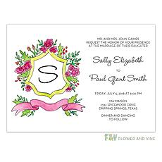 : Bright Crest Invitation