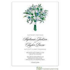 : Floral Bouquet Invitation