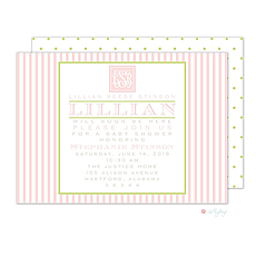 : Southern Seersucker Pink Invitation