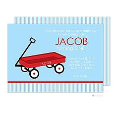 : Little Red Wagon Invitation