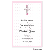 Cross Pink Invitation -