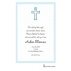 Cross Blue Invitation -
