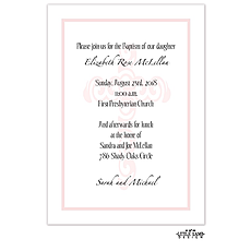 Decorative Cross Background Baptism Invitation -