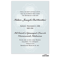Blue Fancy Cross Background Invitation -