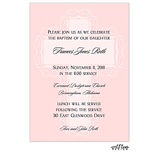 : Pink Fancy Cross Background Invitation
