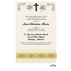 Elegant Cross Invitation -