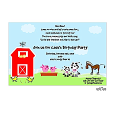 : Farm and petting zoo invitation