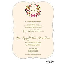 : Flowery Wreath Invitation