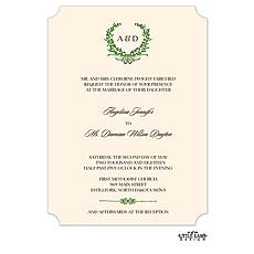 Green Wreath Invitation -