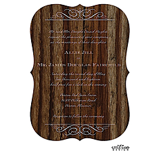 : Cherry Wood Invitation