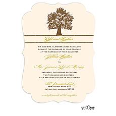 : Oak Tree Invitation