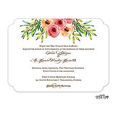 Watercolor Florals Invitation -
