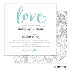: Love Sparkles Invitation