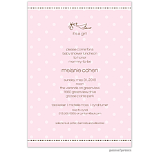 : A Kiss Goodnight Pink Invitation