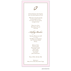 : Tiny Beads Baby Pink Invitation