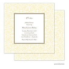 : Pretty Pattern Butter Square Invitation