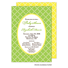 : Leaf Lattice Green Invitation