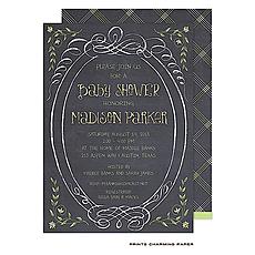 : Sweet Yellow Chalkboard Shower Invitation