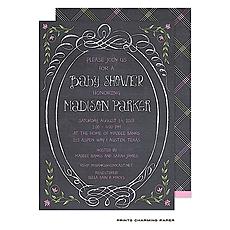 : Sweet Pink Chalkboard Baby Shower Invitation