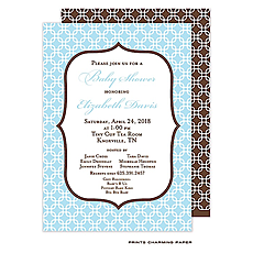 : Baby Blue Chain Link Invitation