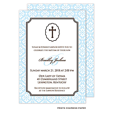 Baby Boy Baptism/Christening Invitation -