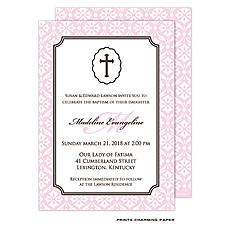 Baby Girl Baptism/Christening Invitation -