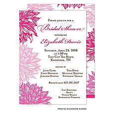 : Pink Flower Invitation