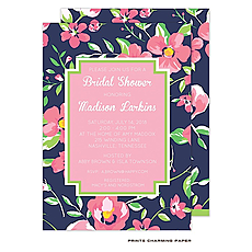 Beautiful Floral Bridal Shower Invitation -