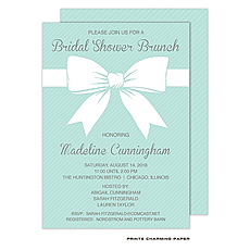 Beautiful Bridal Bow Shower Invitation -