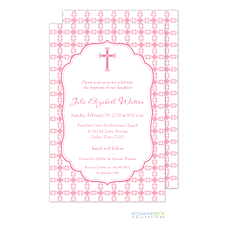 Tile Cross Invitation - Pink -