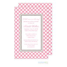 : Gingham Invitation - Pink