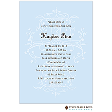 Sacred Cross - Blue Invitation -