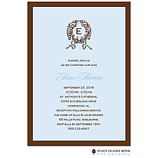 Chenille - Blue Invitation -