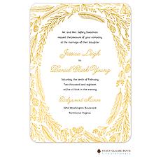 : Ring Of Love Foil Pressed Invitation