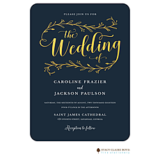 : Wedding Day Foil Pressed Invitation