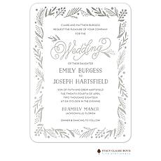 : Gleaming Leaf Foil Pressed Invitation