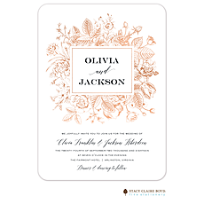 : Boxed Blooms Foil Pressed Invitation