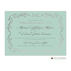 : Scrolled In Foil Foil Pressed Invitation