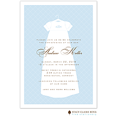 Dressed To Be Blessed Blue Invitation -