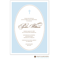 We are Blessed Blue Invitation -