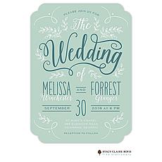 : Enchanting Day Wedding Invitation Invitation