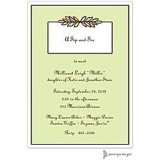 : Multi Garland Lime Invitation