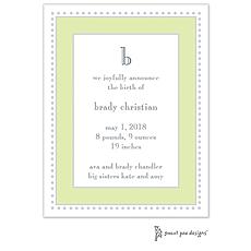: Antique Bead Border Invitation