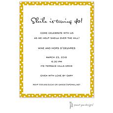 : Dotted Edge Mustard Invitation